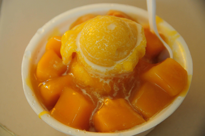 カフェpukapukaの絶品マンゴーかき氷