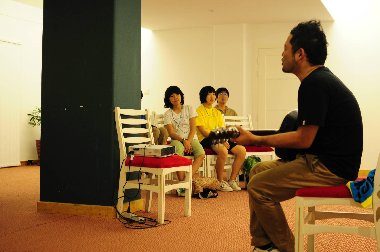 ゲストの森源太さんの講演会とミニライブ