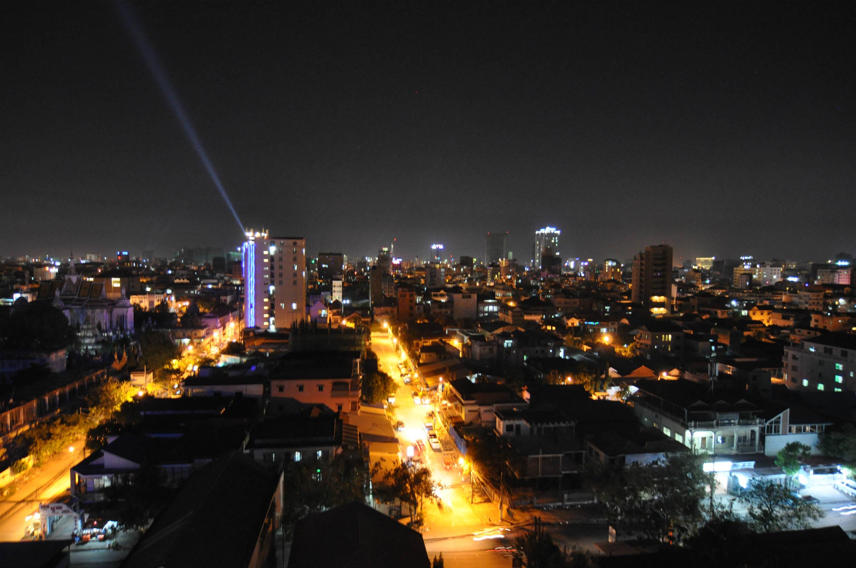 プノンペンの夜景。