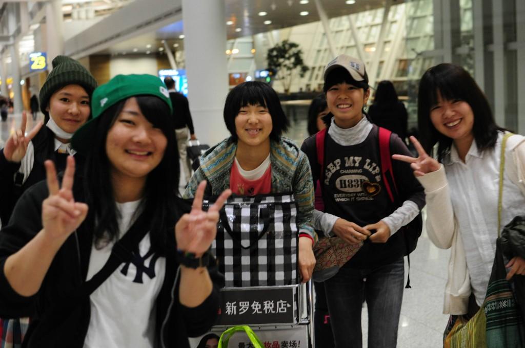 乗継地点の仁川空港で関空組と無事合流